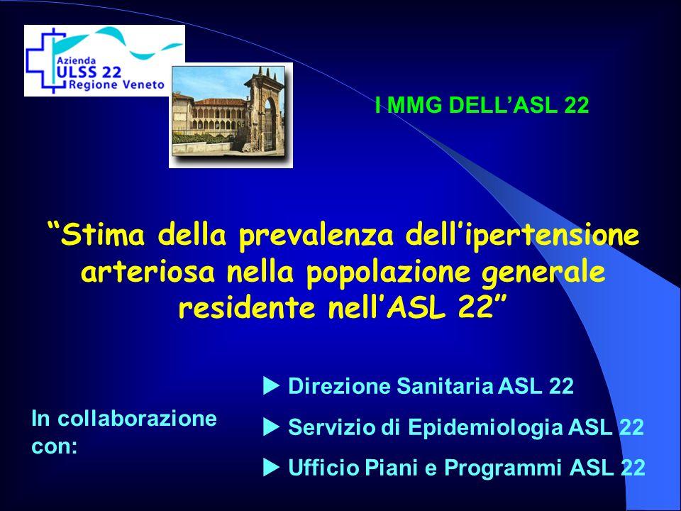I MMG DELL'ASL 22 Stima della prevalenza dell'ipertensione arteriosa nella popolazione generale residente nell'ASL 22