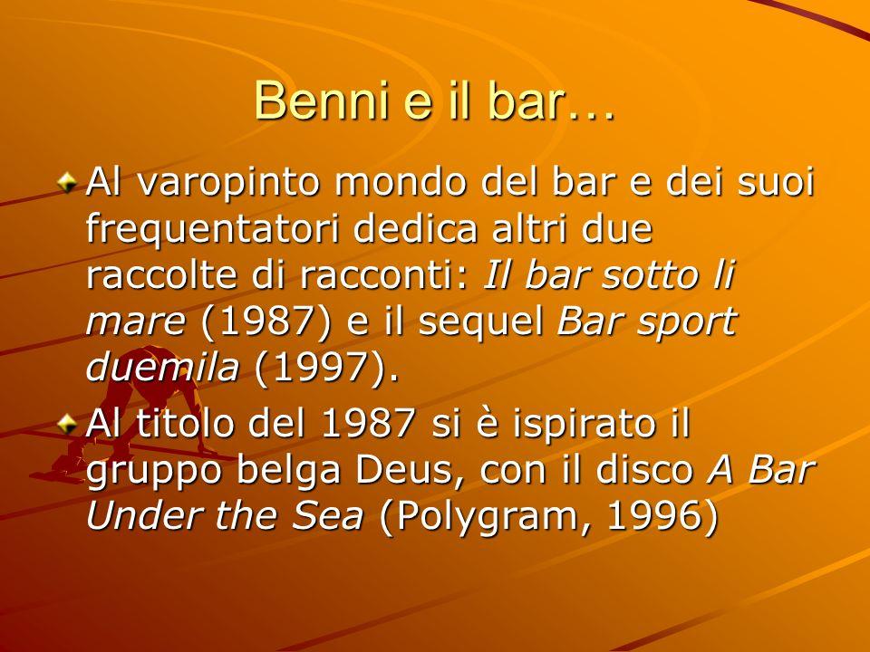 Benni e il bar…