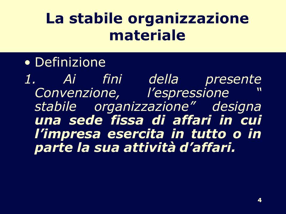 La stabile organizzazione materiale