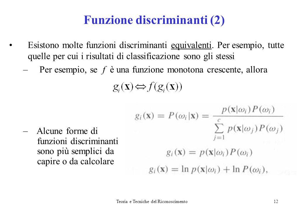 Funzione discriminanti (2)