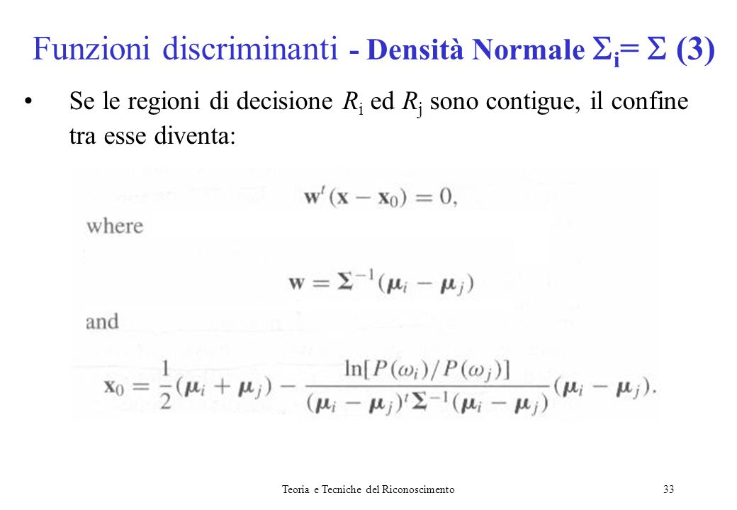 Funzioni discriminanti - Densità Normale i=  (3)