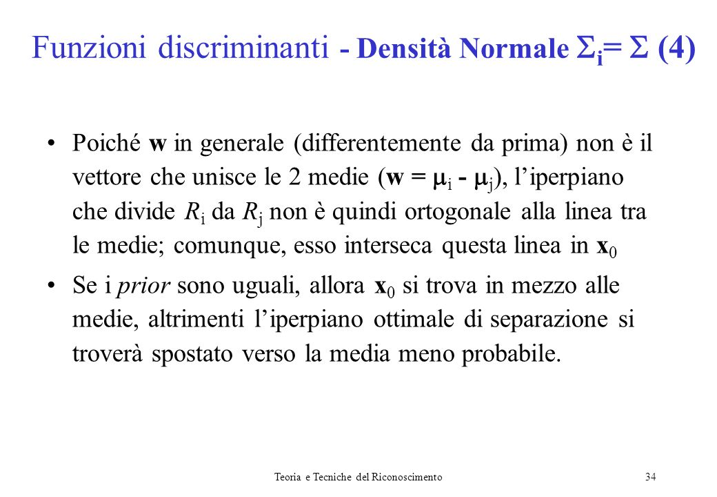 Funzioni discriminanti - Densità Normale i=  (4)