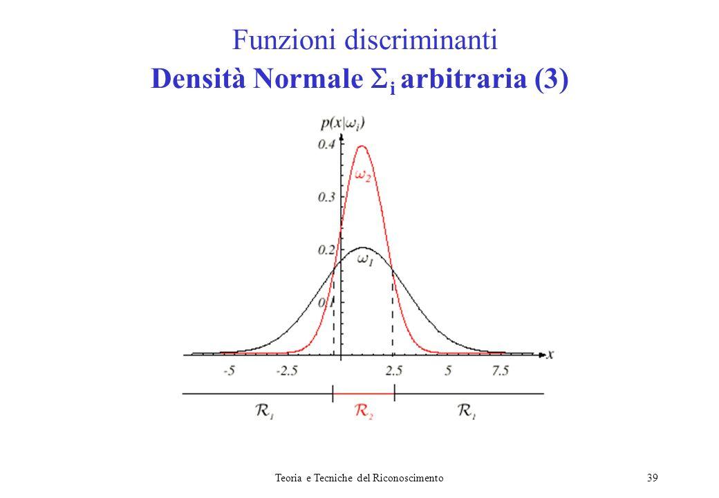 Funzioni discriminanti Densità Normale i arbitraria (3)