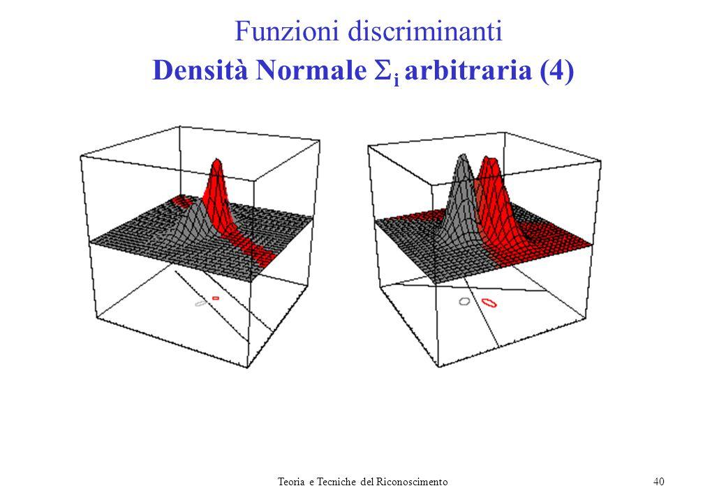 Funzioni discriminanti Densità Normale i arbitraria (4)
