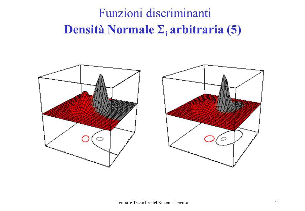 Funzioni discriminanti Densità Normale i arbitraria (5)