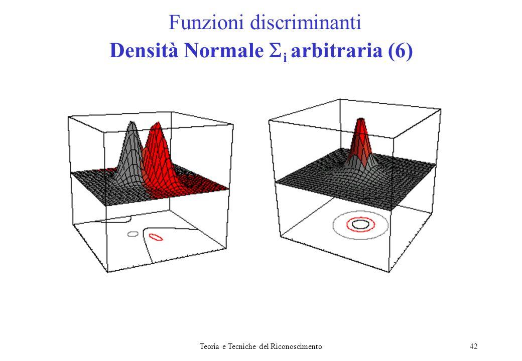 Funzioni discriminanti Densità Normale i arbitraria (6)