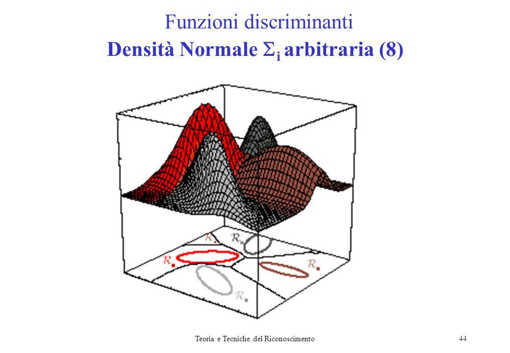 Funzioni discriminanti Densità Normale i arbitraria (8)