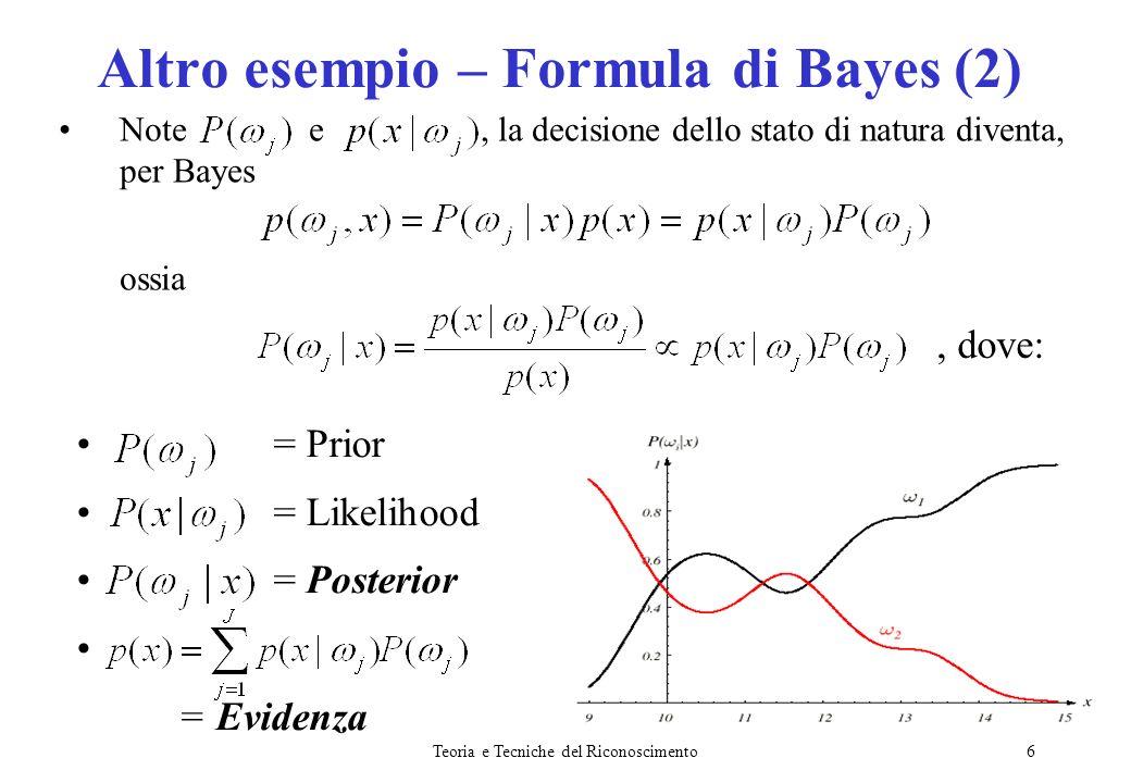 Altro esempio – Formula di Bayes (2)