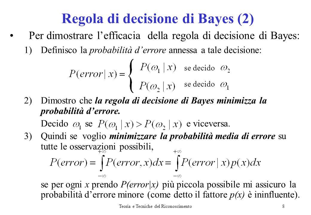 Regola di decisione di Bayes (2)
