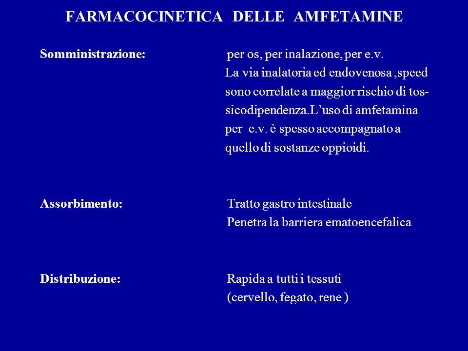 FARMACOCINETICA DELLE AMFETAMINE