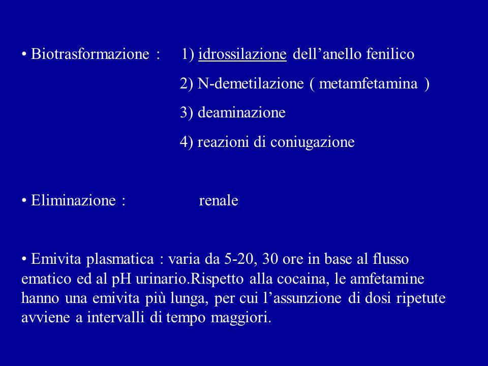 Biotrasformazione : 1) idrossilazione dell'anello fenilico