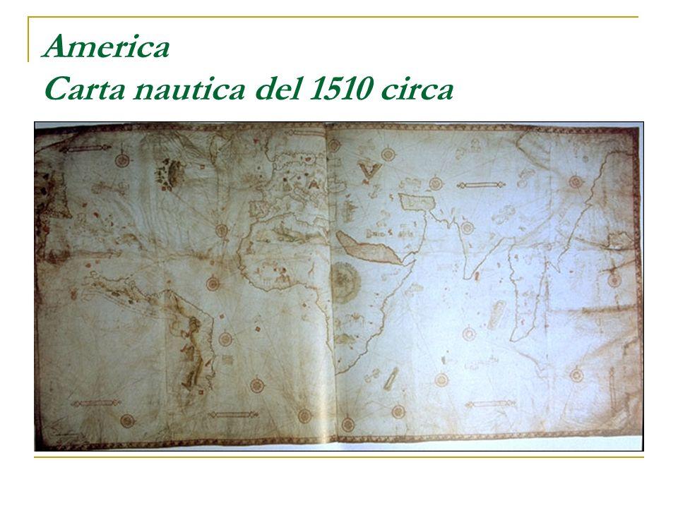 America Carta nautica del 1510 circa