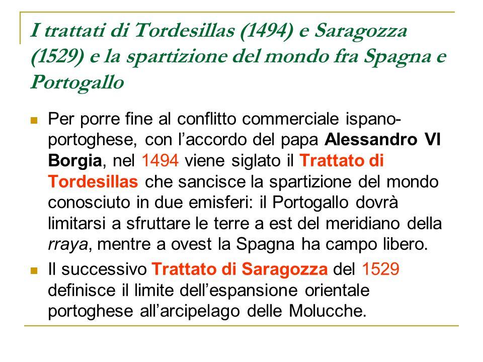 I trattati di Tordesillas (1494) e Saragozza (1529) e la spartizione del mondo fra Spagna e Portogallo