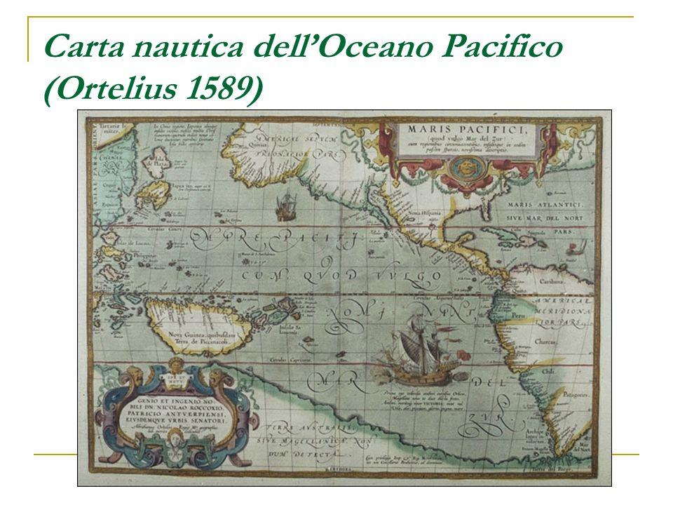 Carta nautica dell'Oceano Pacifico (Ortelius 1589)
