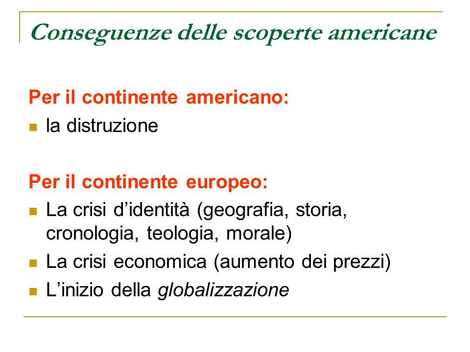 Conseguenze delle scoperte americane
