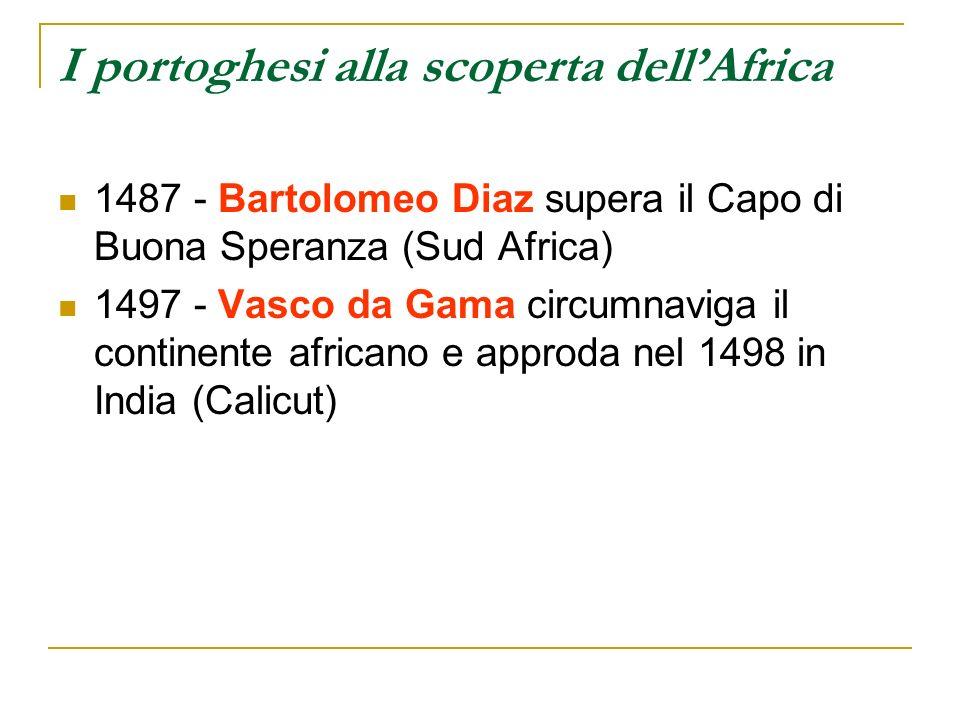 I portoghesi alla scoperta dell'Africa