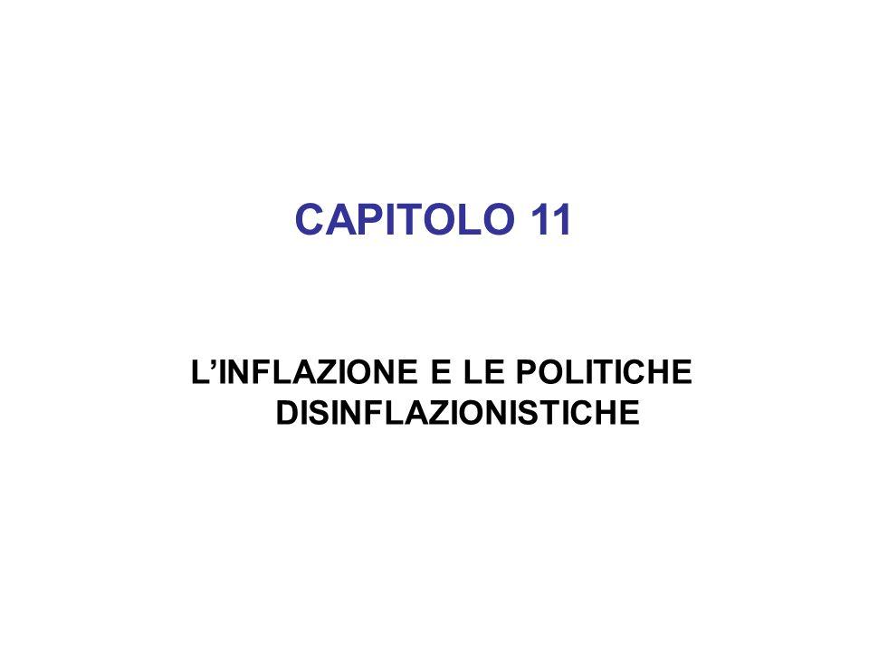 L'INFLAZIONE E LE POLITICHE DISINFLAZIONISTICHE