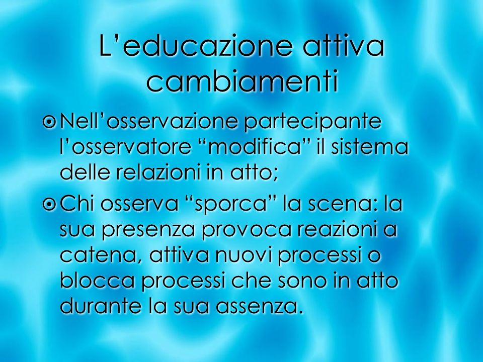 L'educazione attiva cambiamenti