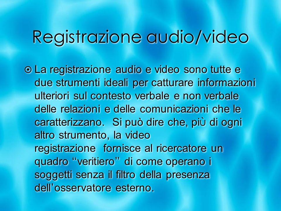 Registrazione audio/video