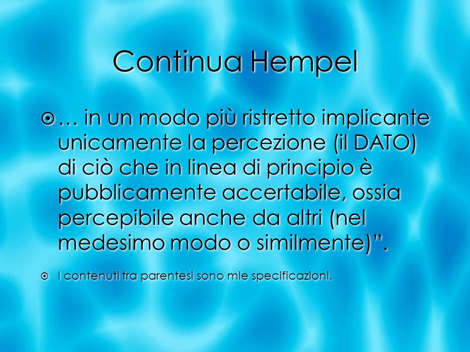 Continua Hempel