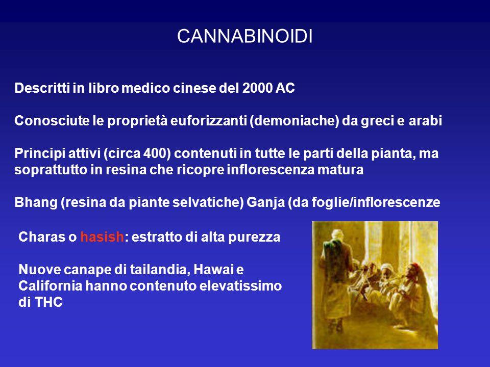 CANNABINOIDI Descritti in libro medico cinese del 2000 AC