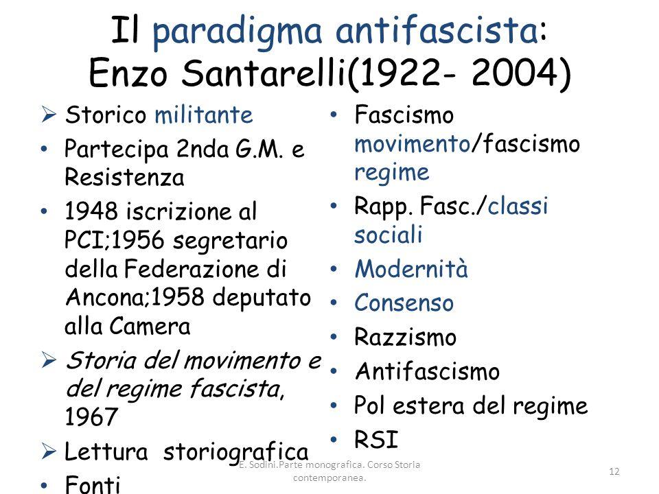 Il paradigma antifascista: Enzo Santarelli(1922- 2004)