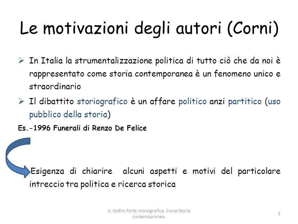 Le motivazioni degli autori (Corni)