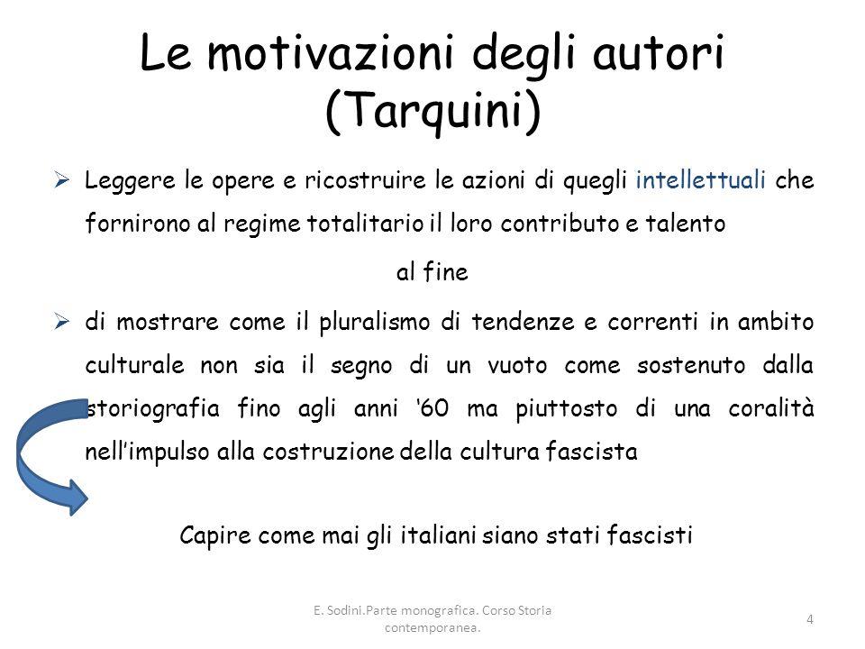 Le motivazioni degli autori (Tarquini)