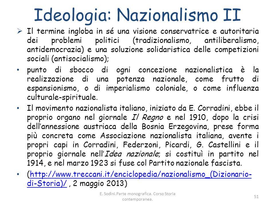 Ideologia: Nazionalismo II