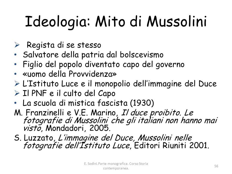 Ideologia: Mito di Mussolini