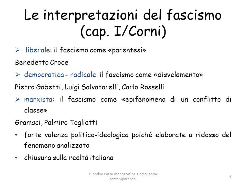 Le interpretazioni del fascismo (cap. I/Corni)