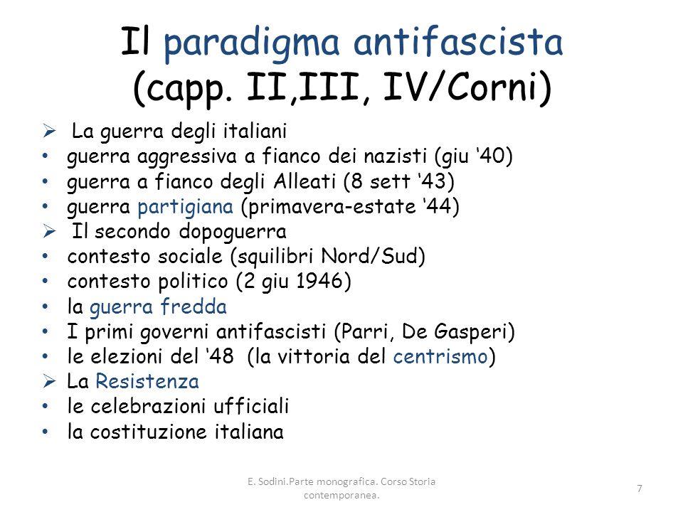 Il paradigma antifascista (capp. II,III, IV/Corni)
