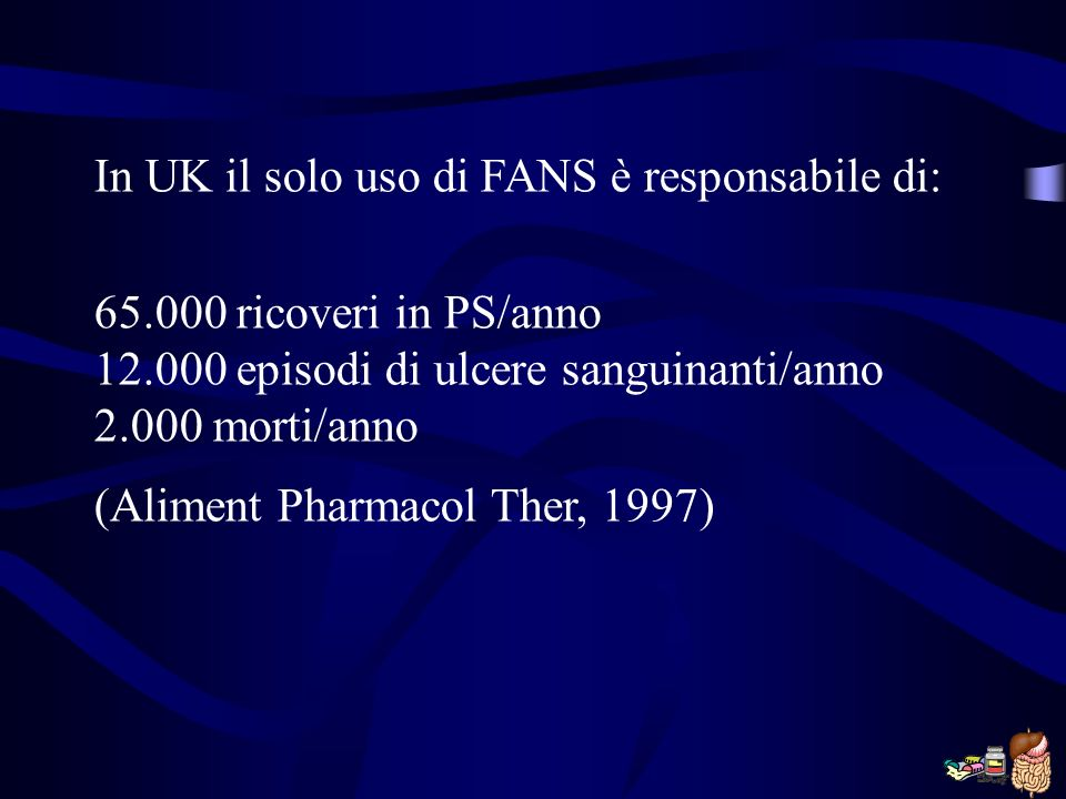 In UK il solo uso di FANS è responsabile di: