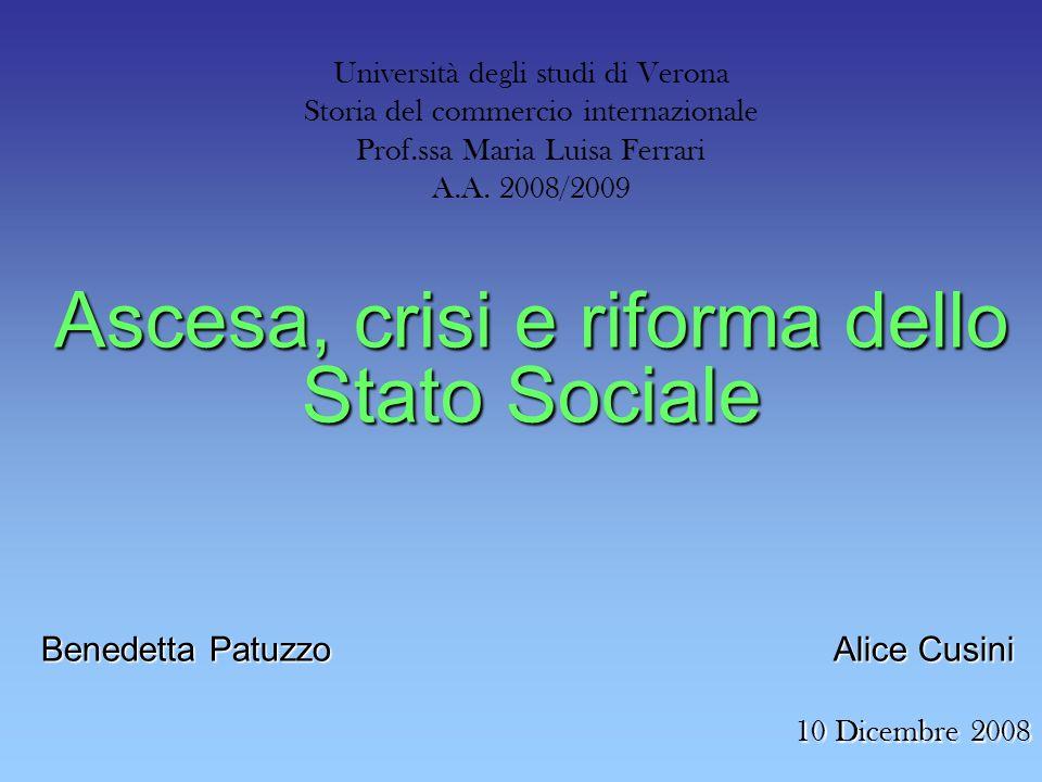 Ascesa, crisi e riforma dello Stato Sociale