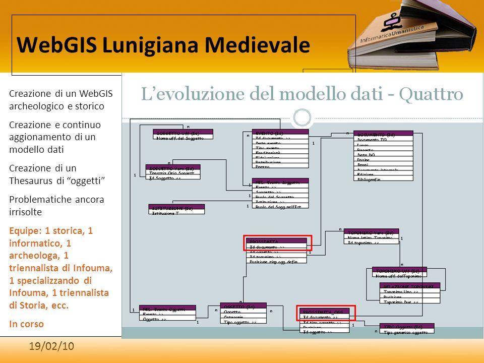 WebGIS Lunigiana Medievale