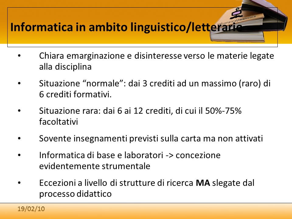 Informatica in ambito linguistico/letterario