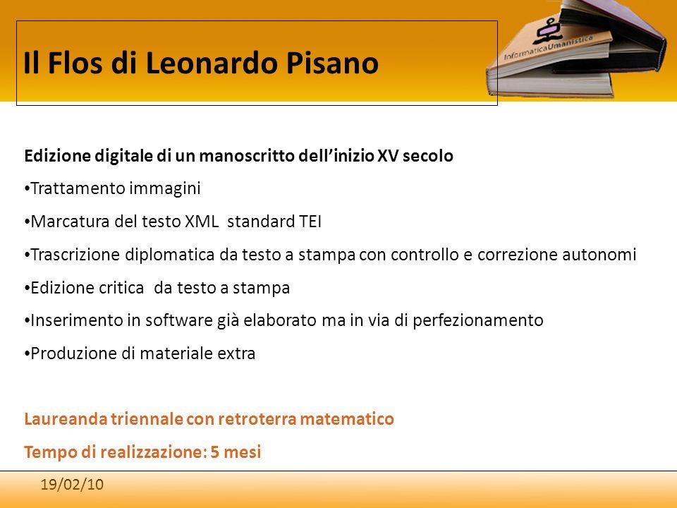 Il Flos di Leonardo Pisano