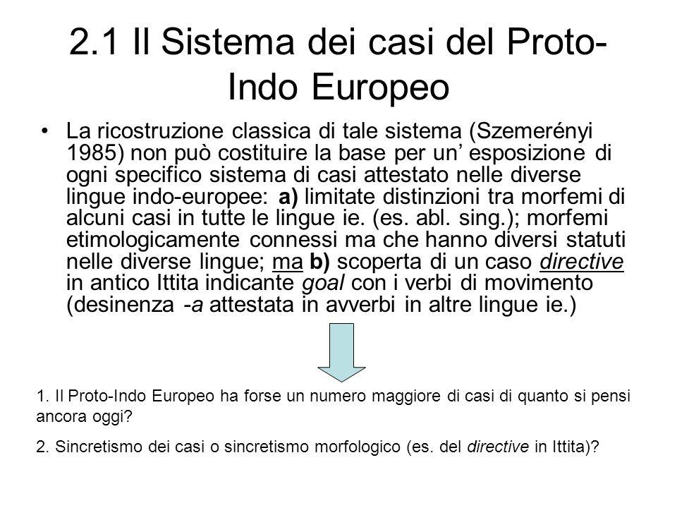 2.1 Il Sistema dei casi del Proto-Indo Europeo