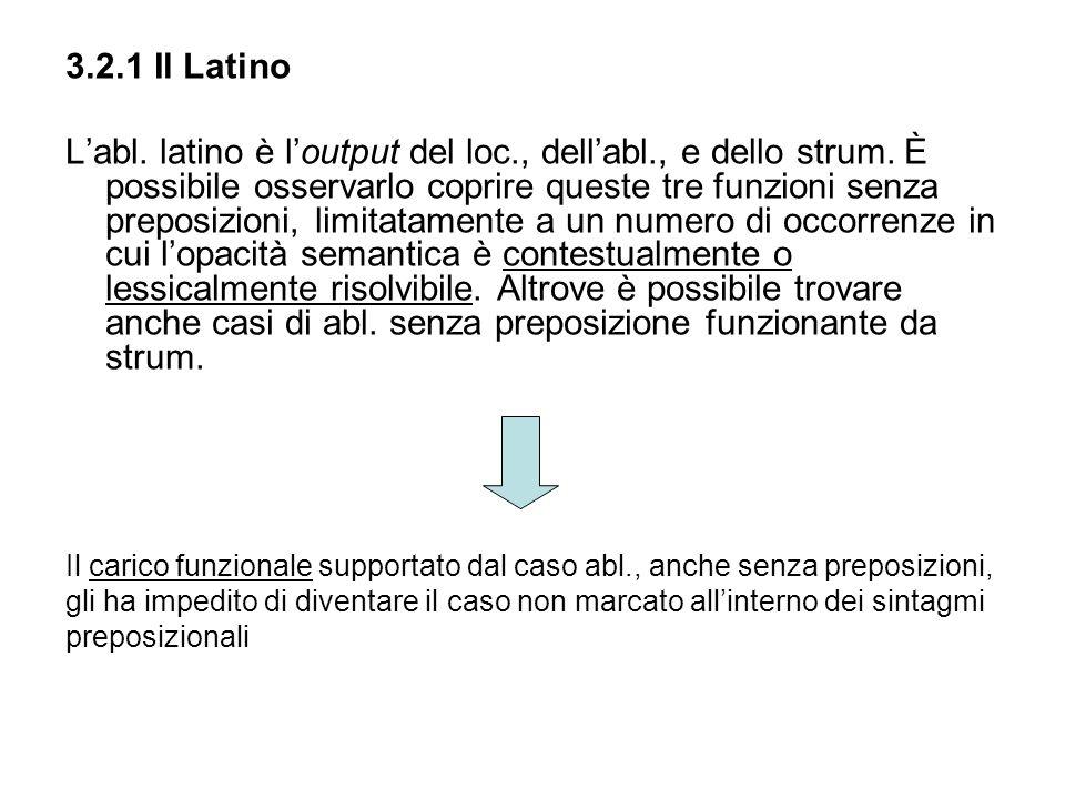 3.2.1 Il Latino