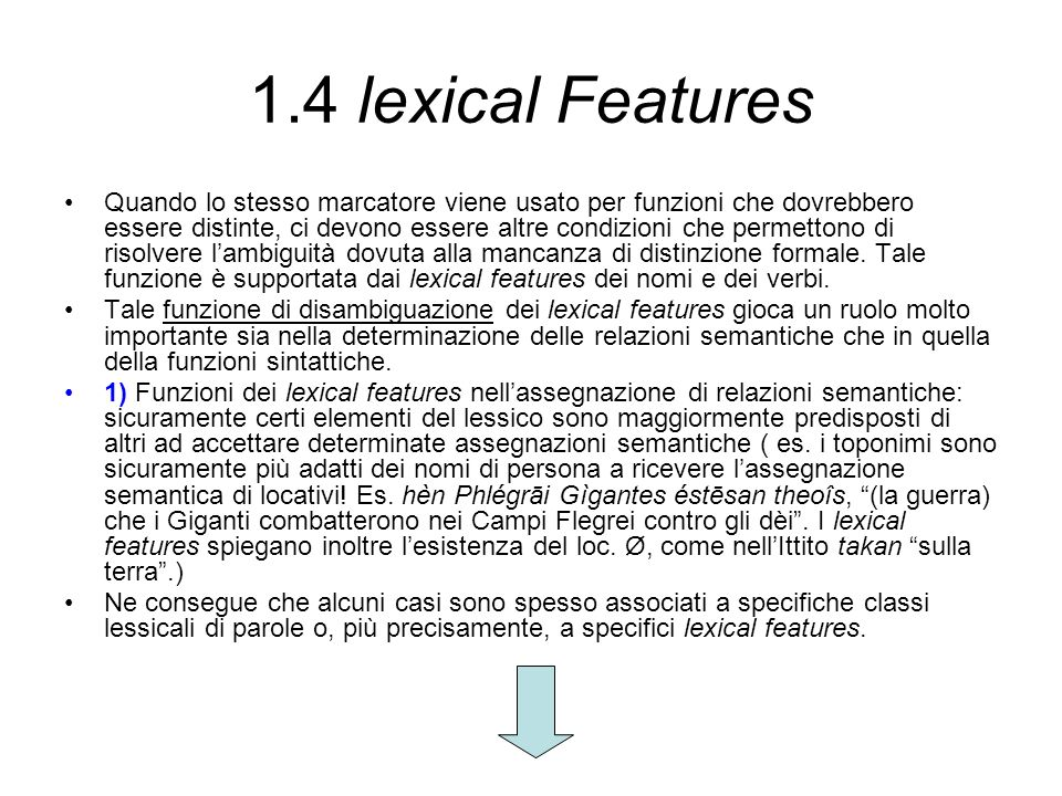 1.4 lexical Features