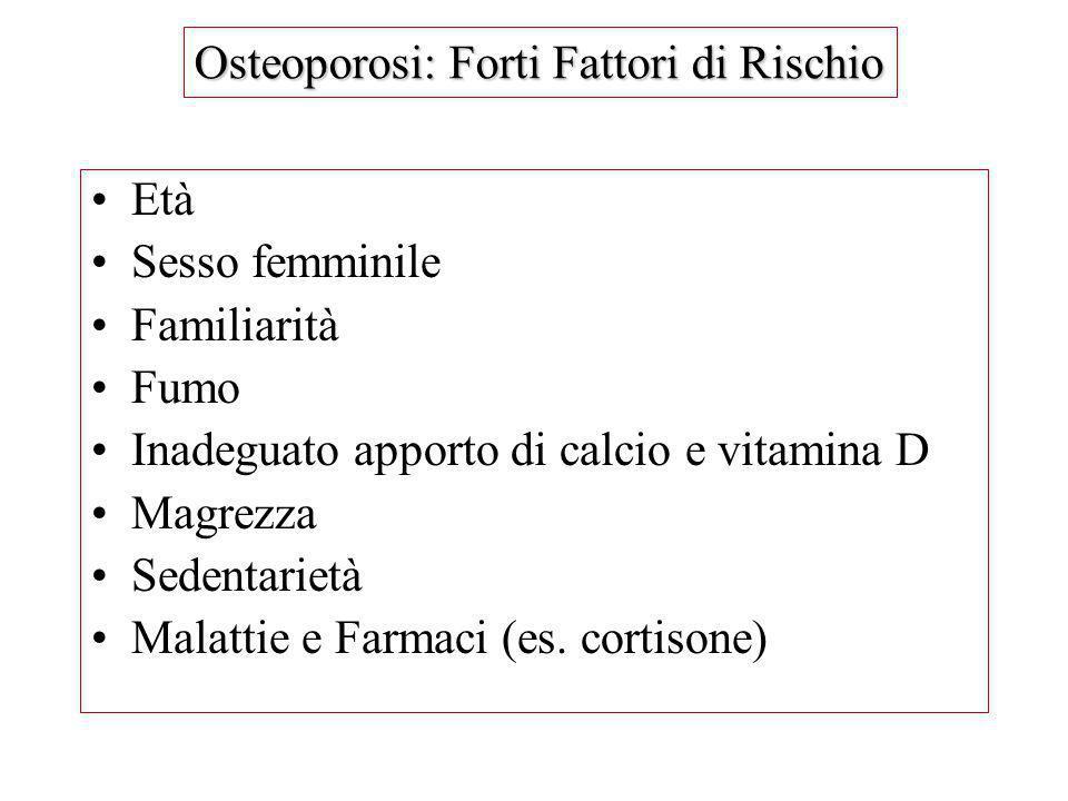 Osteoporosi: Forti Fattori di Rischio