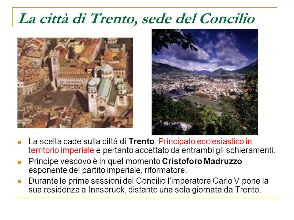 La città di Trento, sede del Concilio