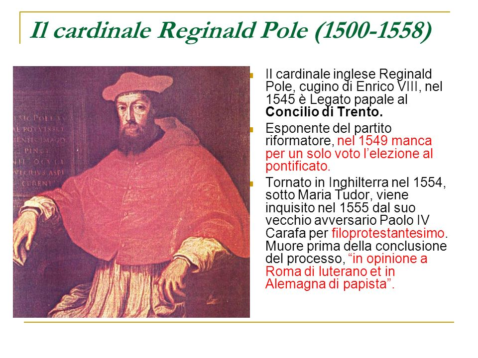 Il cardinale Reginald Pole (1500-1558)