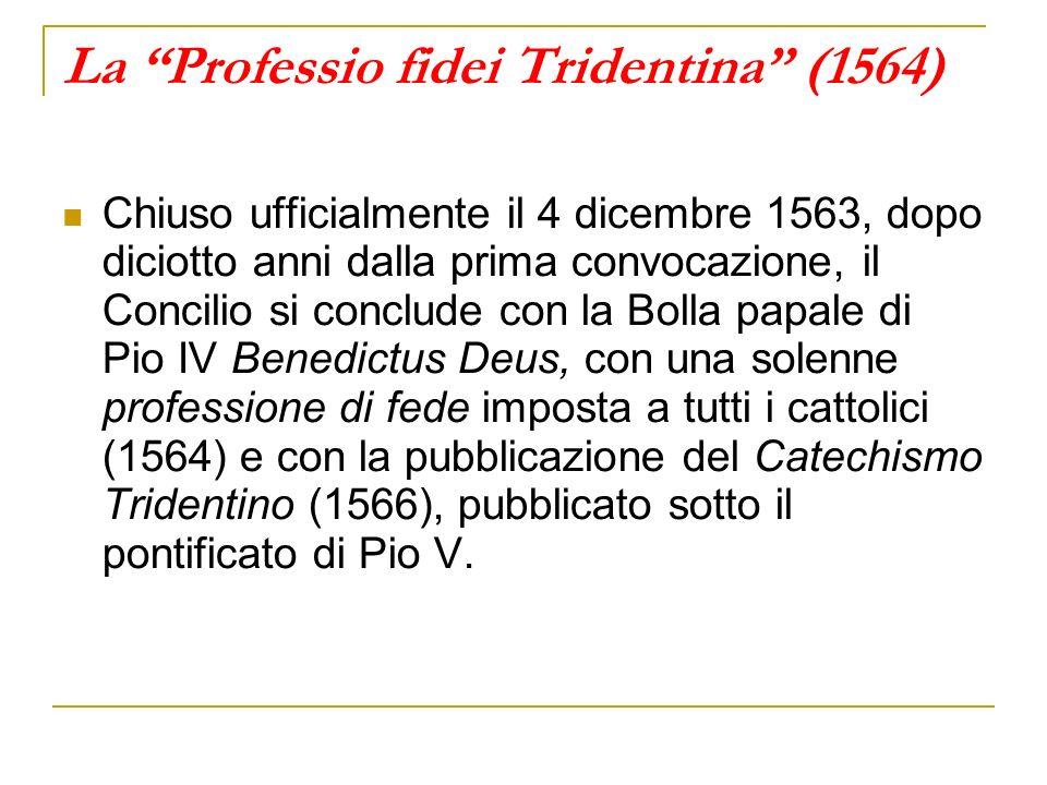 La Professio fidei Tridentina (1564)