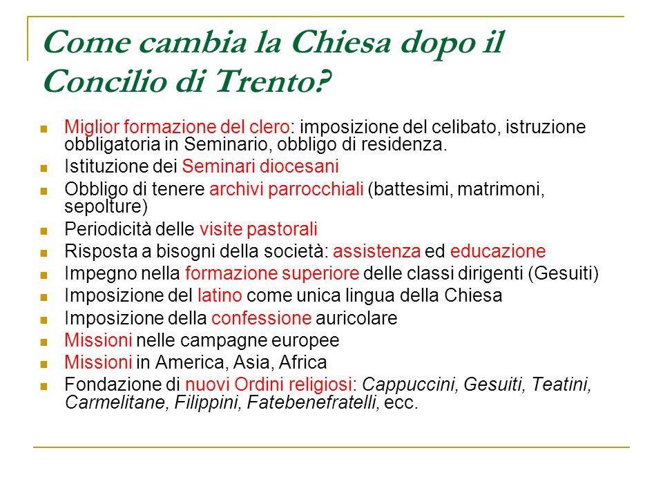 Come cambia la Chiesa dopo il Concilio di Trento