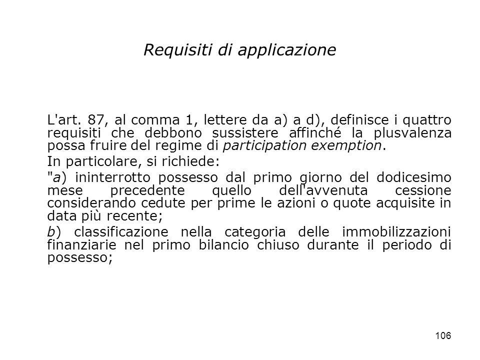 Requisiti di applicazione