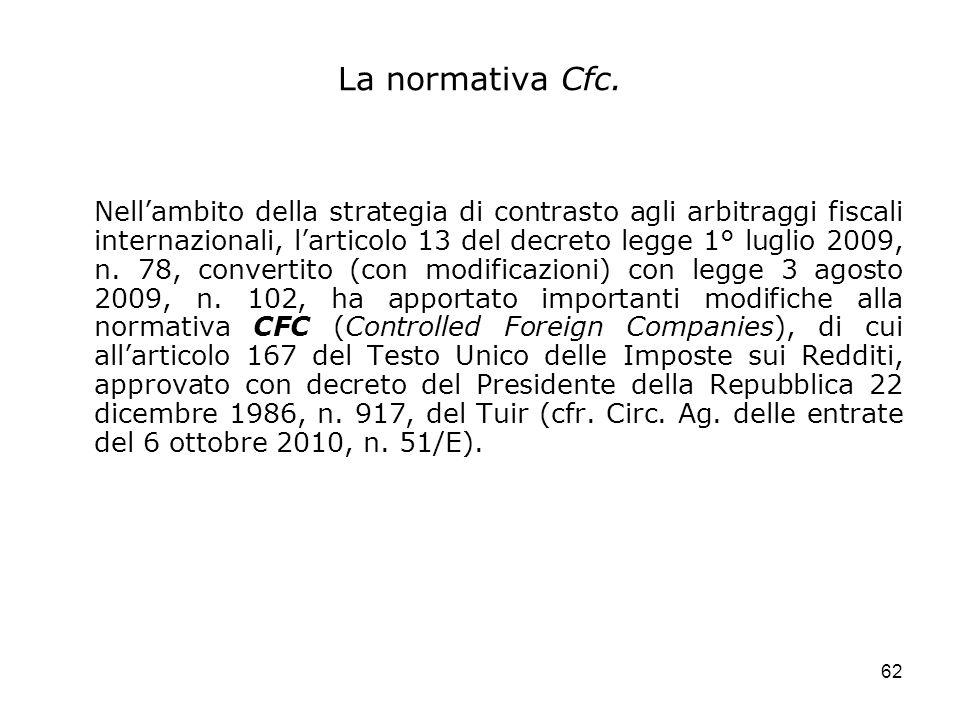 La normativa Cfc.