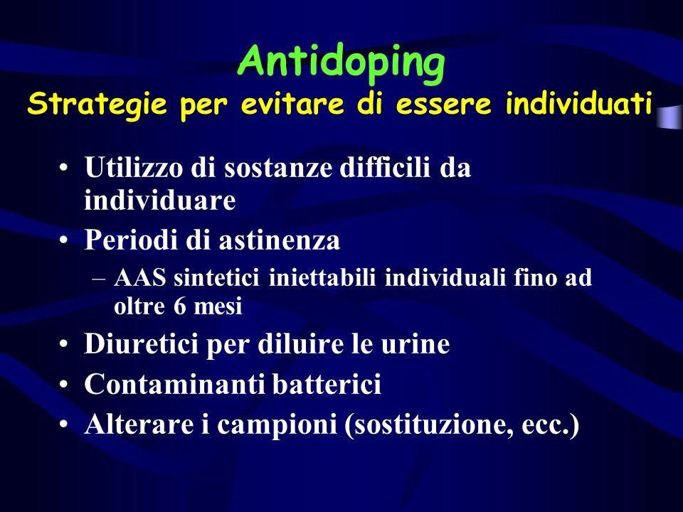 Antidoping Strategie per evitare di essere individuati