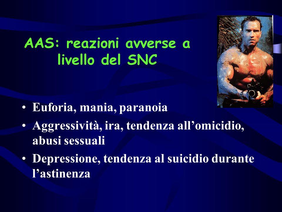 AAS: reazioni avverse a livello del SNC