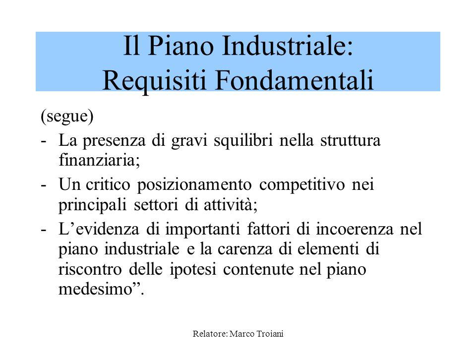 Il Piano Industriale: Requisiti Fondamentali